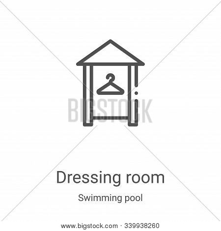 dressing room icon isolated on white background from swimming pool collection. dressing room icon tr