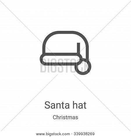 santa hat icon isolated on white background from christmas collection. santa hat icon trendy and mod