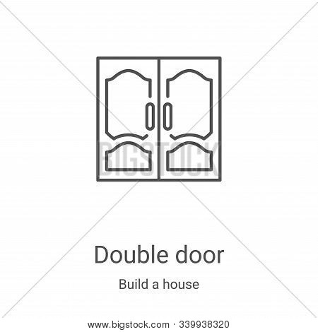 double door icon isolated on white background from build a house collection. double door icon trendy