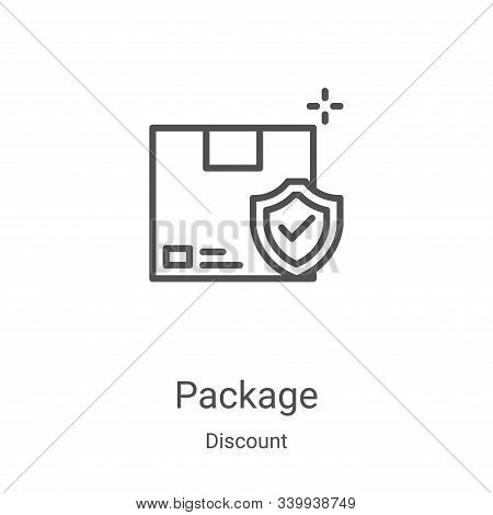 package icon isolated on white background from discount collection. package icon trendy and modern p