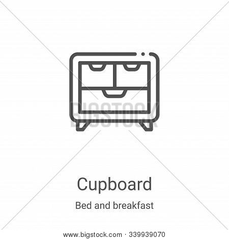 cupboard icon isolated on white background from bed and breakfast collection. cupboard icon trendy a