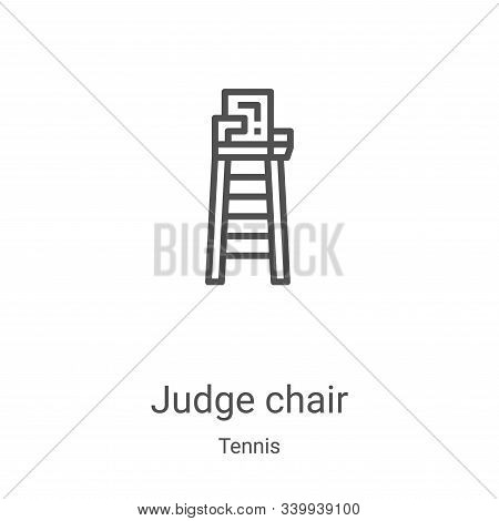 judge chair icon isolated on white background from tennis collection. judge chair icon trendy and mo
