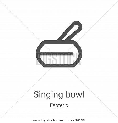 singing bowl icon isolated on white background from esoteric collection. singing bowl icon trendy an
