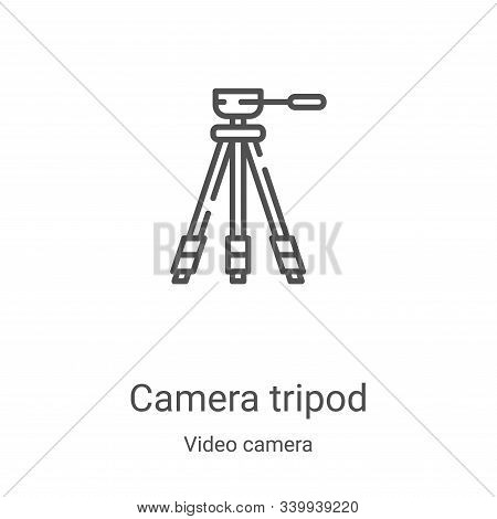 camera tripod icon isolated on white background from video camera collection. camera tripod icon tre