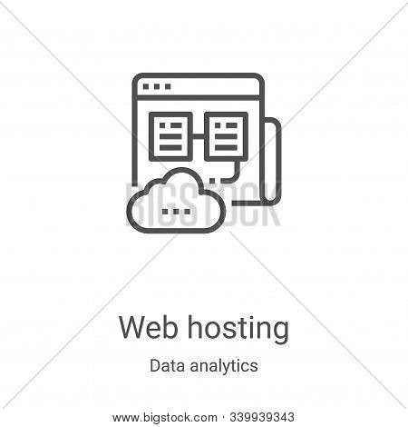 web hosting icon isolated on white background from data analytics collection. web hosting icon trend