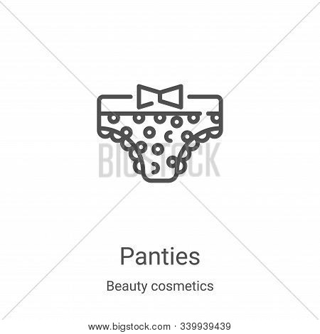 panties icon isolated on white background from beauty cosmetics collection. panties icon trendy and
