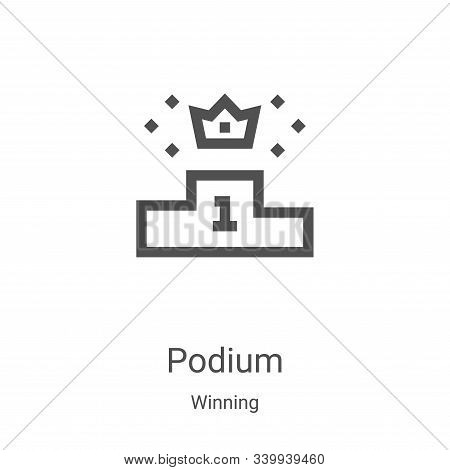podium icon isolated on white background from winning collection. podium icon trendy and modern podi