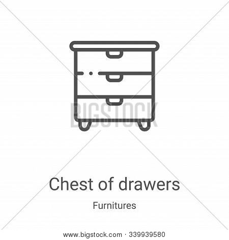 chest of drawers icon isolated on white background from furnitures collection. chest of drawers icon