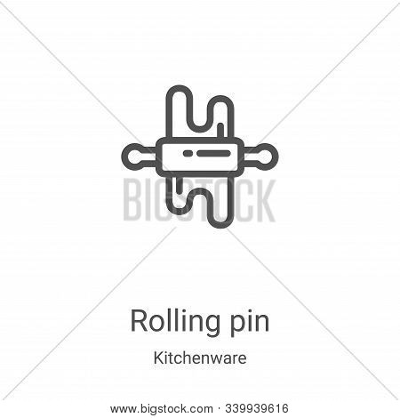 rolling pin icon isolated on white background from kitchenware collection. rolling pin icon trendy a