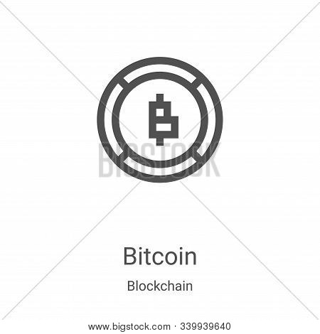 bitcoin icon isolated on white background from blockchain collection. bitcoin icon trendy and modern