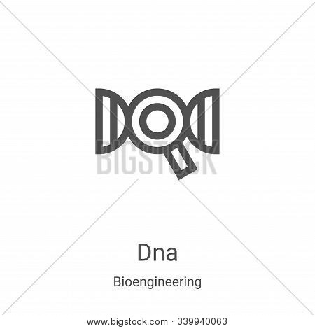 dna icon isolated on white background from bioengineering collection. dna icon trendy and modern dna
