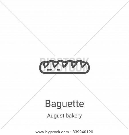 baguette icon isolated on white background from august bakery collection. baguette icon trendy and m
