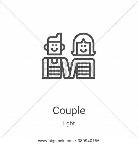 couple icon isolated on white background from lgbt collection. couple icon trendy and modern couple