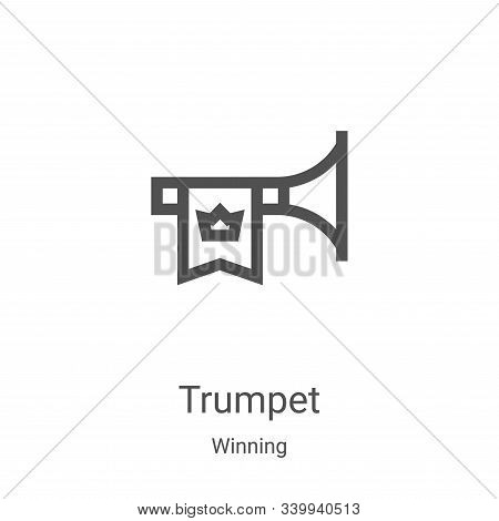trumpet icon isolated on white background from winning collection. trumpet icon trendy and modern tr