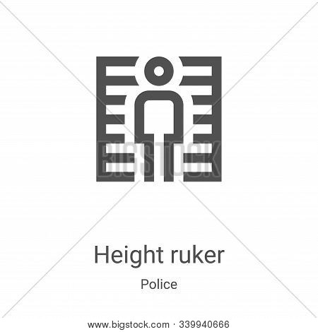 height ruker icon isolated on white background from police collection. height ruker icon trendy and