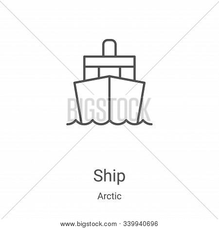 ship icon isolated on white background from arctic collection. ship icon trendy and modern ship symb