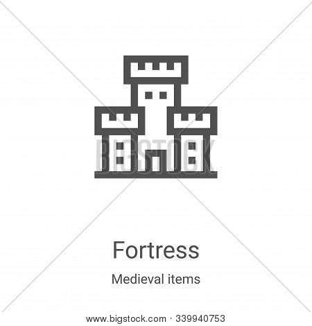 fortress icon isolated on white background from medieval items collection. fortress icon trendy and