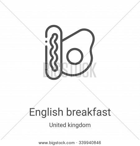 english breakfast icon isolated on white background from united kingdom collection. english breakfas