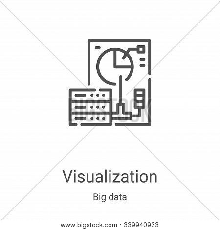 visualization icon isolated on white background from big data collection. visualization icon trendy
