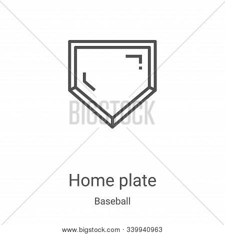 home plate icon isolated on white background from baseball collection. home plate icon trendy and mo