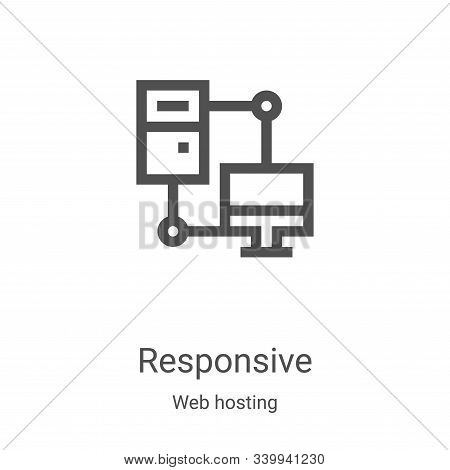 responsive icon isolated on white background from web hosting collection. responsive icon trendy and