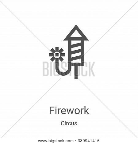 firework icon isolated on white background from circus collection. firework icon trendy and modern f