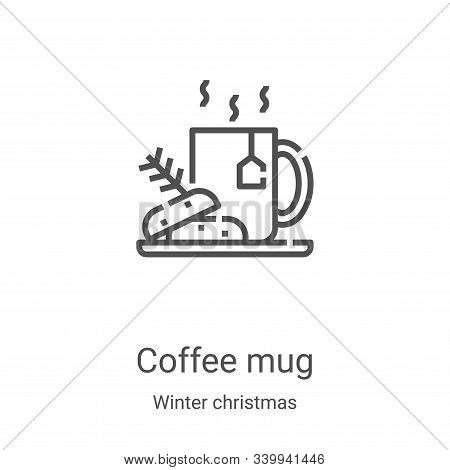 coffee mug icon isolated on white background from winter christmas collection. coffee mug icon trend