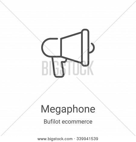 megaphone icon isolated on white background from bufilot ecommerce collection. megaphone icon trendy
