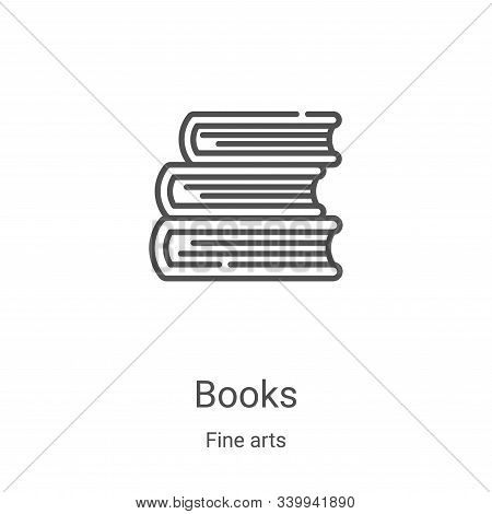 books icon isolated on white background from fine arts collection. books icon trendy and modern book
