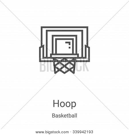 hoop icon isolated on white background from basketball collection. hoop icon trendy and modern hoop