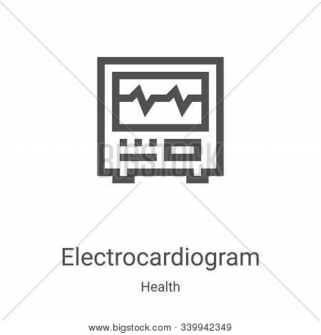 electrocardiogram icon isolated on white background from health collection. electrocardiogram icon t