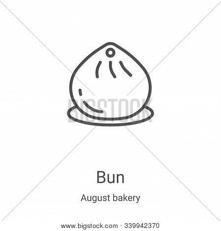 bun icon isolated on white background from august bakery collection. bun icon trendy and modern bun