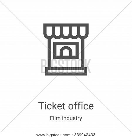 ticket office icon isolated on white background from film industry collection. ticket office icon tr