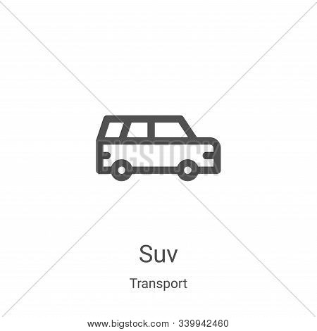 suv icon isolated on white background from transport collection. suv icon trendy and modern suv symb