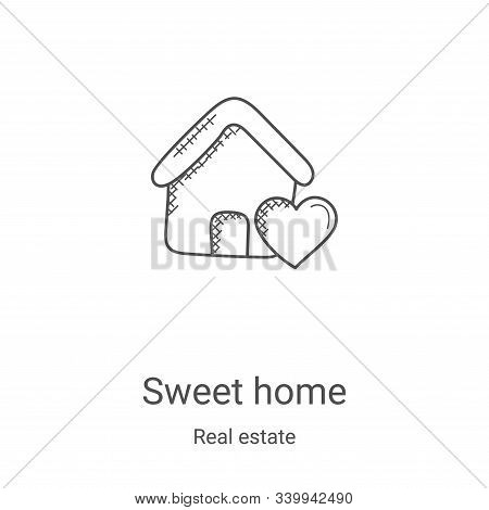sweet home icon isolated on white background from real estate collection. sweet home icon trendy and