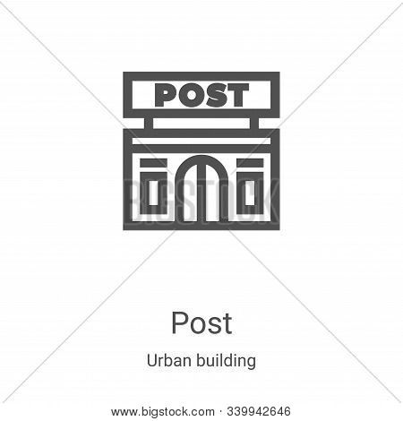 post icon isolated on white background from urban building collection. post icon trendy and modern p