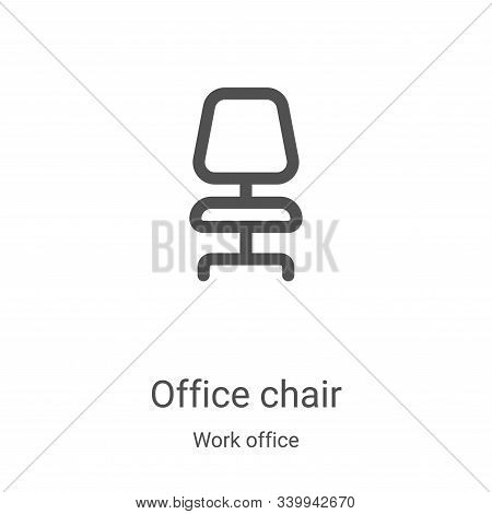 office chair icon isolated on white background from work office collection. office chair icon trendy