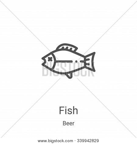 fish icon isolated on white background from beer collection. fish icon trendy and modern fish symbol