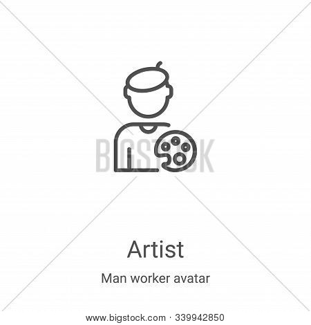 artist icon isolated on white background from man worker avatar collection. artist icon trendy and m