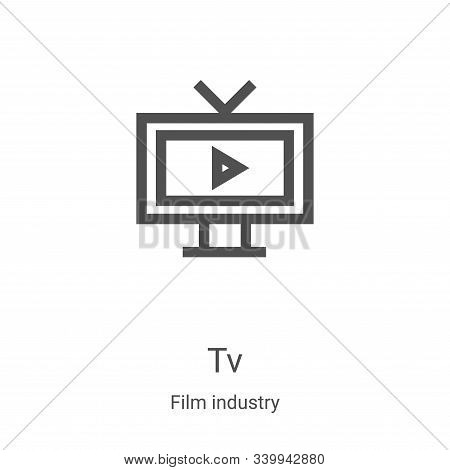 tv icon isolated on white background from film industry collection. tv icon trendy and modern tv sym