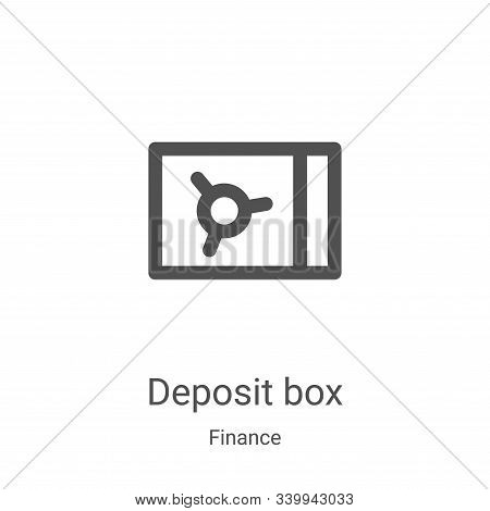 deposit box icon isolated on white background from finance collection. deposit box icon trendy and m