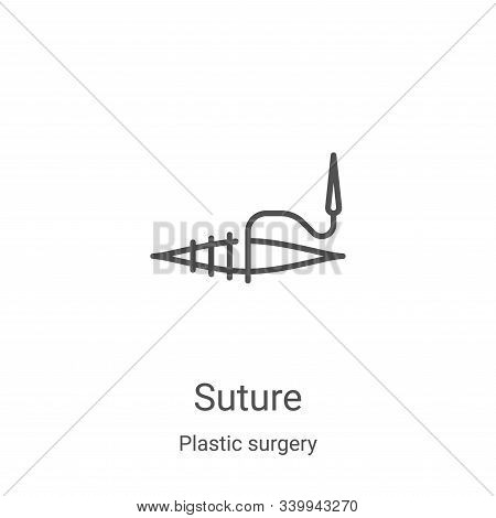 suture icon isolated on white background from plastic surgery collection. suture icon trendy and mod
