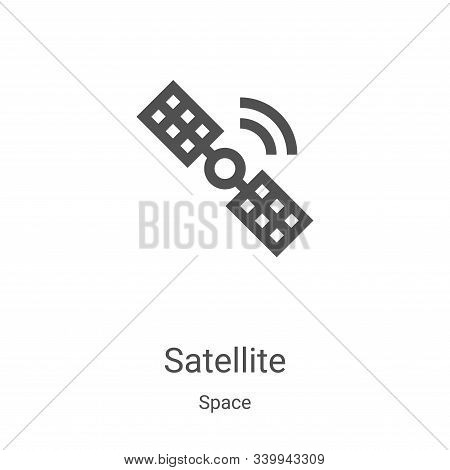 satellite icon isolated on white background from space collection. satellite icon trendy and modern
