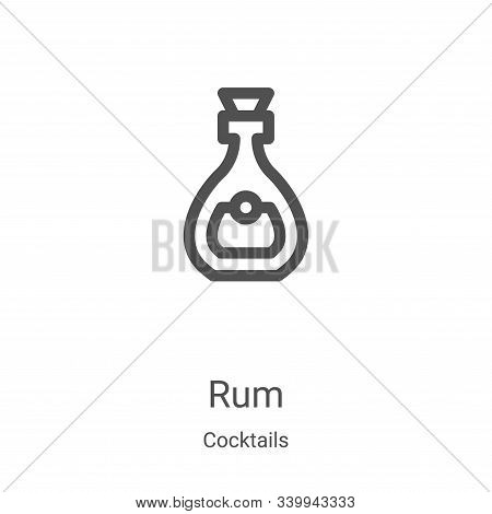 rum icon isolated on white background from cocktails collection. rum icon trendy and modern rum symb