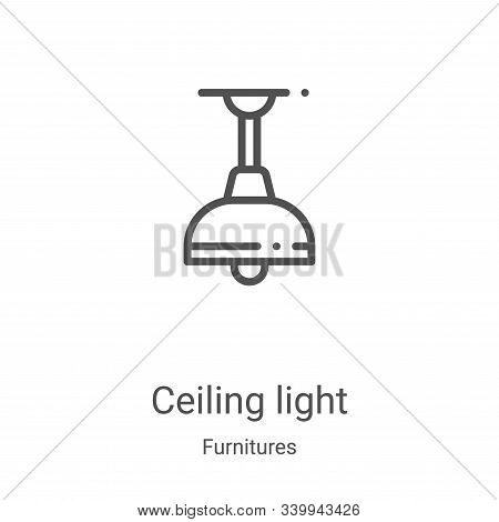 ceiling light icon isolated on white background from furnitures collection. ceiling light icon trend