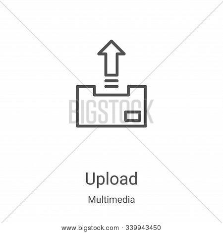 upload icon isolated on white background from multimedia collection. upload icon trendy and modern u