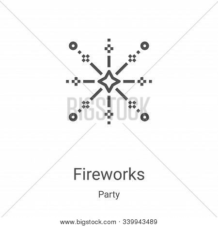 fireworks icon isolated on white background from party collection. fireworks icon trendy and modern