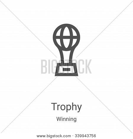trophy icon isolated on white background from winning collection. trophy icon trendy and modern trop