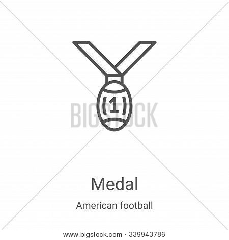 medal icon isolated on white background from american football collection. medal icon trendy and mod