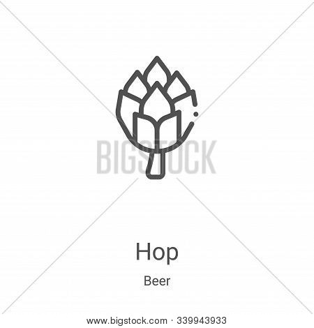 hop icon isolated on white background from beer collection. hop icon trendy and modern hop symbol fo